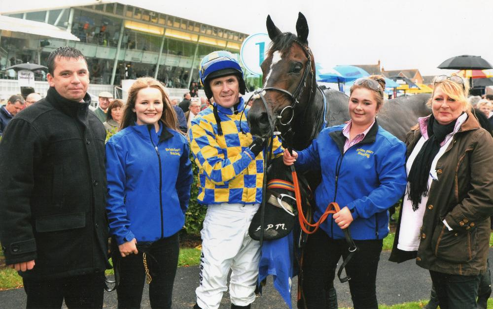 Castlemorris King after winning at Stratford with AP McCoy