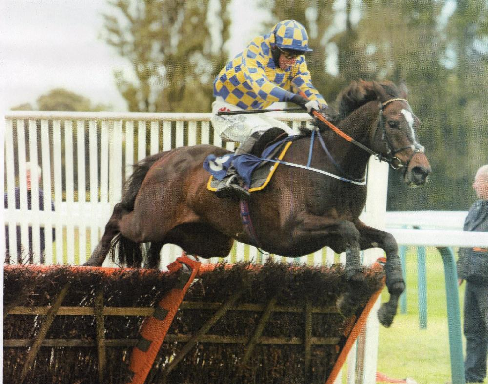 Castlemorris King on his way to winning off a career high mark @ Fontwell with Dave Crosse